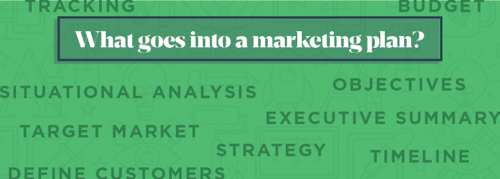 What goes into a marketing plan?